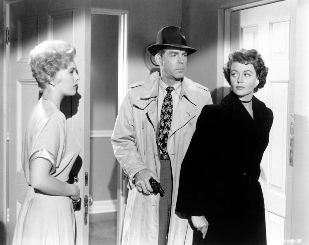 Pushover (1954) Directed by Richard Quine Shown from left: Kim Novak, Fred MacMurray, Dorothy Malone